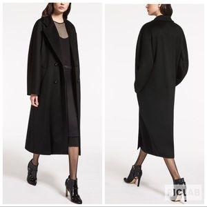 MaxMara Pure New Wool Long Classic Peacoat Italy